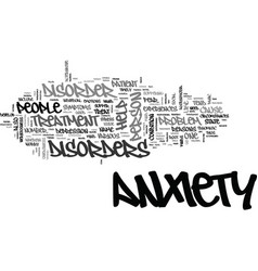 Anxiety disorders in children text word cloud vector