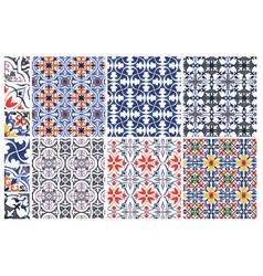 Azulejos patterns vector