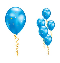 blue party balloon vector image