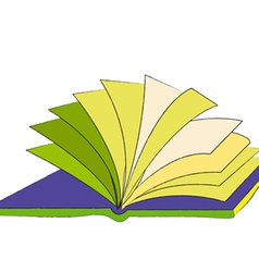 Book The loose pages of an open book vector image
