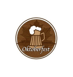 Brown Oktoberfest stamp vector image