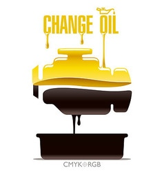 Change Engine Oil vector image vector image