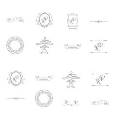 Decorative calligraphic elements floral dividers vector