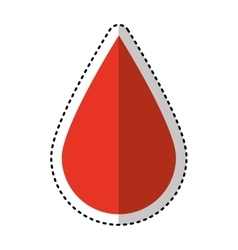 Drop blood medical icon vector