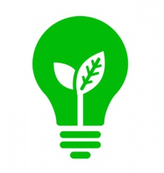 ecology bulb icon vector image