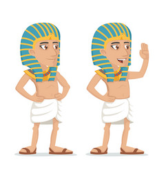 Egyptian character salute hand greeting icon vector