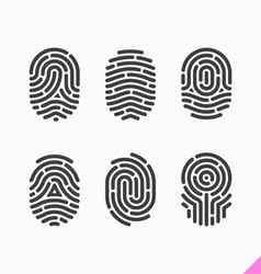 Fingerprint icons set vector image vector image