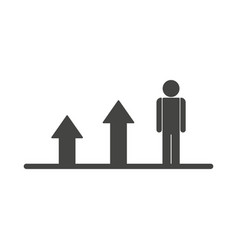 growing business man graph flat icon vector image vector image