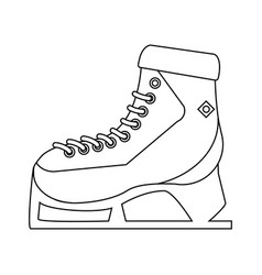 ice skate winter sport icon image vector image