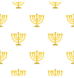 Jewish menorah with candles pattern flat vector