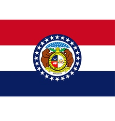 Missouri flag vector