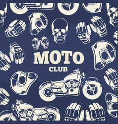 Moto club grunge vintage background vector