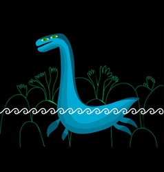 plesiosaurus in the sea vector image