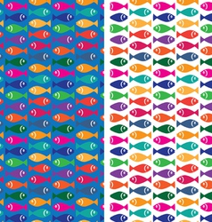 small fish pattern vector image vector image