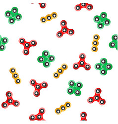 spinner seamless pattern vector image