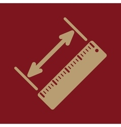 The diagonal measurement icon ruler and vector