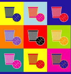 trash sign pop-art style vector image vector image