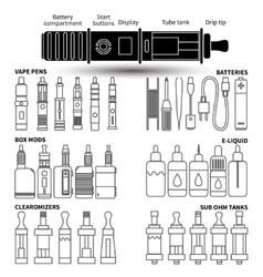 vape service set vector image