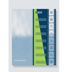 Vertical banner template leaflets brochures vector image