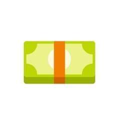 Packed dollars money icon in flat style vector