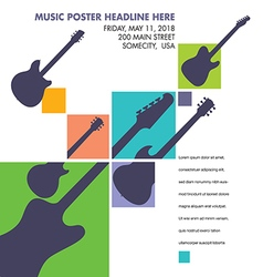 Unusual guitar art vector image