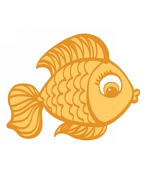 Goldfish cartoon hand drawn vector