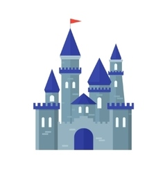 Castle Medievel Flat Design Style vector image
