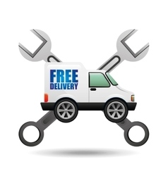 Truck free delivery icon tool vector