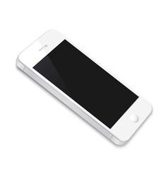White smartphone vector