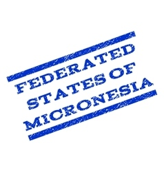 Federated states of micronesia watermark stamp vector