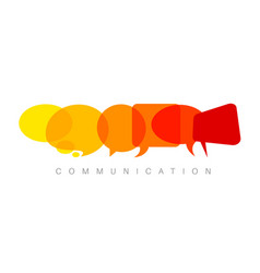 abstract communication concept vector image