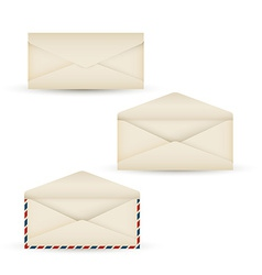 Open vintage long envelope vector