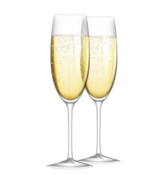 glasses of champagne vector image