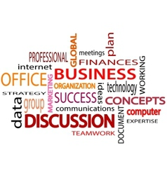 Business related words text white background vector