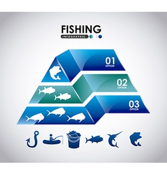Fishing infographic vector