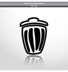 Trash can web icon vector