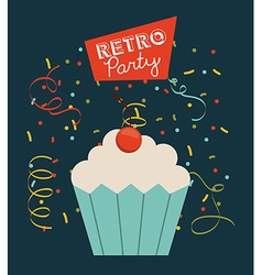 Retro party vector
