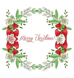 Background with christmas decoration vector