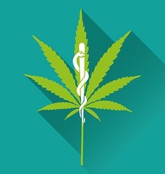 Medical marihuana new logo vector