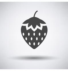 Strawberry icon on gray background vector
