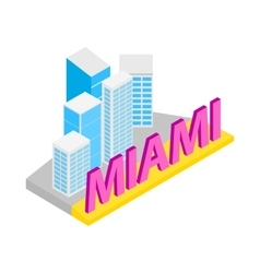 City of miami icon isometric 3d style vector