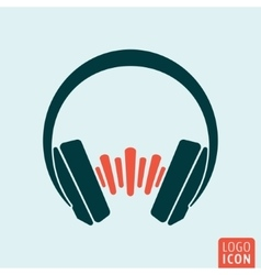 Headphones sound wave vector