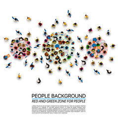 a crowd of people of different zones vector image