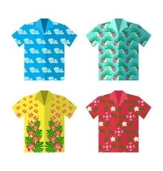Aloha hawaiian shirt for happy carefree vacation vector