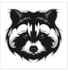 Badger Head black and white vector image vector image