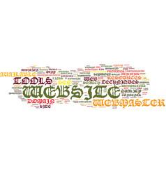 benefits of website design with director text vector image vector image