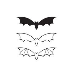 black bat icon or logo vector image