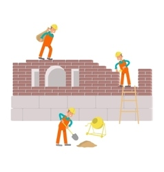 Builders are working vector