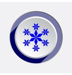 Christmas snowflake icon new year winter sale vector