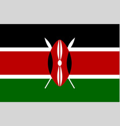 Colored flag of kenya vector